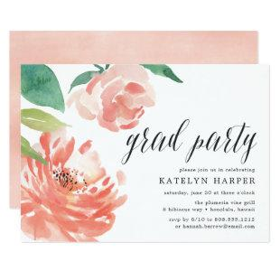 Blushing Peony | Graduation Party Invitation