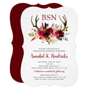 Boho Nurse gradation ceremony / pinning RN BSN Invitation