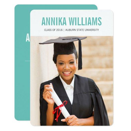 Bold and Colorful Modern Graduation Announcement