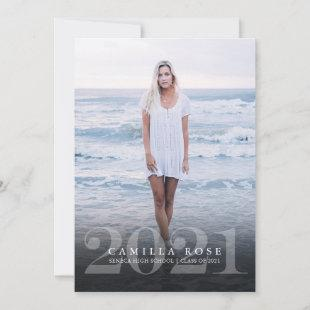 Bold Elegance 2021 Graduation Photo Invitation