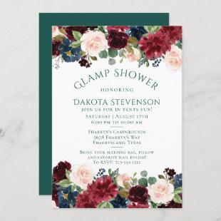 Bold Floral | Botanical Watercolor Glamping Shower Invitation