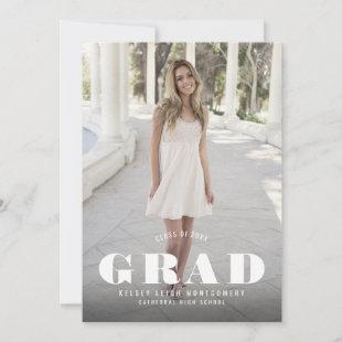 Bold Type Graduation Photo Announcement and Party