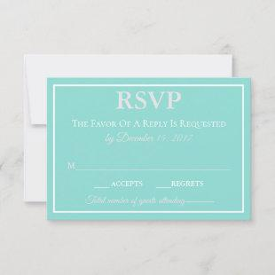 BRIDE CO Touch Of Silver Traditional Wedding Suite RSVP Card