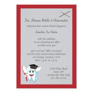 Brush and Tooth Dental Graduate Invitation