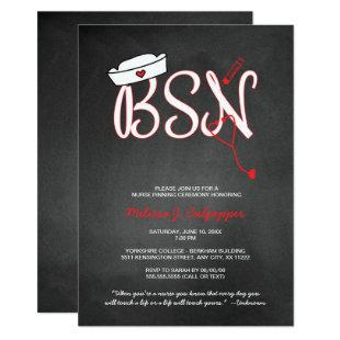 BSN nurse pinning ceremony graduation invitations