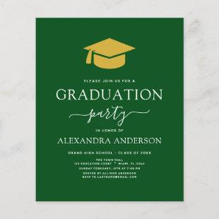 Budget 2021 Graduation Party Green Gold