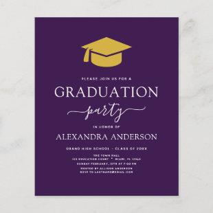 Budget 2021 Graduation Party Purple Gold