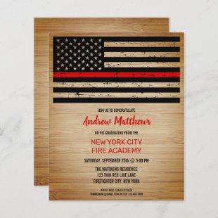 Budget Firefighter Graduation Thin Red Line