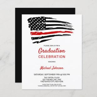Budget Firefighter Graduation Thin Red Line Party