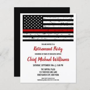 Budget Firefighter Retirement Party Thin Red Line