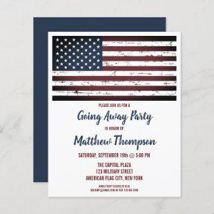 Budget Military Going Away Party Flag Invitation