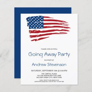 Budget Military Going Away Party USA American Flag