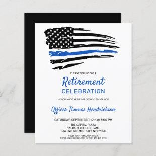 Budget Police Retirement Thin Blue Line