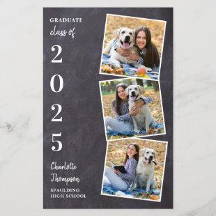 Budget Rustic Chalkboard Photo Collage Graduation