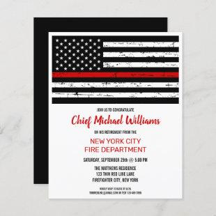 Budget Thin Red Line Firefighter Retirement