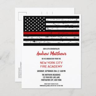 Budget Thin Red Line Law Firefighter Graduation