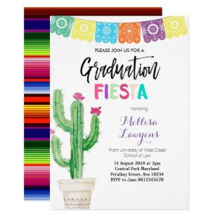 Cactus Graduation Party Fiesta Invitation