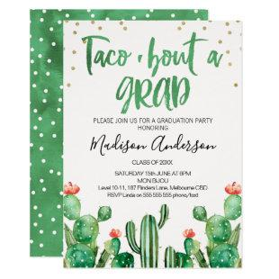 Cactus Taco ''bout A Grad Party Invitation