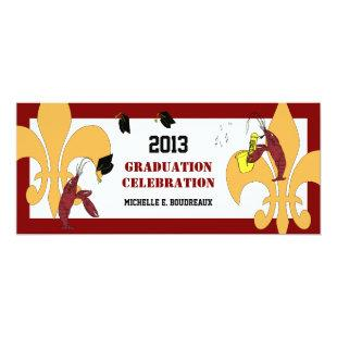 Cajun Crawfish Jazz Graduation Party Invitation