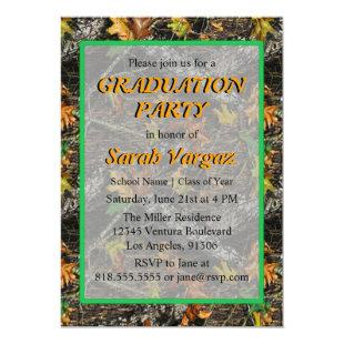 Camo Graduation Party Invitation