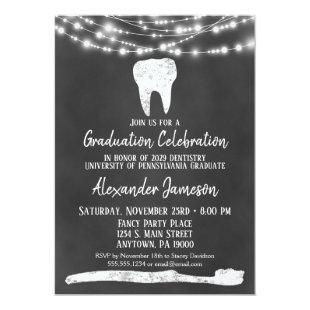 Chalkboard Dental Graduation Party Invitation