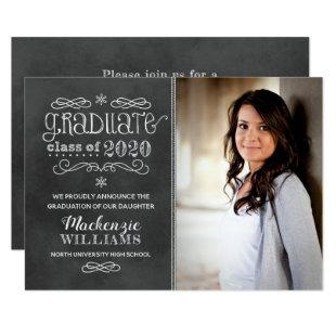 Chalkboard Photo 2020 Graduation Party Invitation