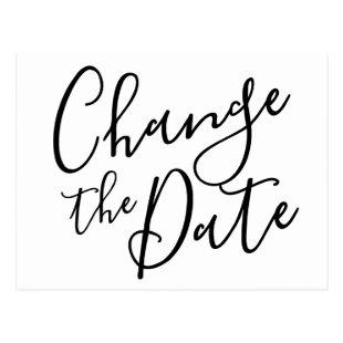 Change the Date Postponed Cancelled Event Modern Postcard