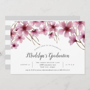Cherry Blossoms Graduation Party Invitation
