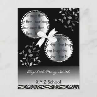 chic  twin photo Graduation Invitation