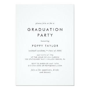 Chic Typography Graduation Party Invitation