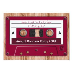 Choose Any Color High School Reunion Party Invitation