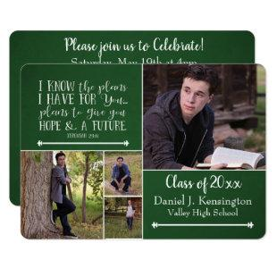 Christian Bible Verse Graduation Photo Collage Gre Invitation