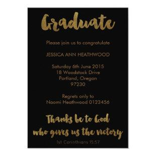 Christian Graduation Invitation - Thanks Be to God