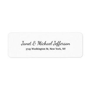 Class Creative Plain Black & White Stylish Family Label