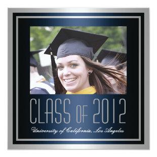 Class of 2012, Navy and Silver Graduation Invite