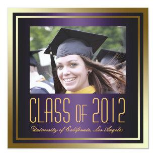 Class of 2012, Purple and Gold Graduation Invite