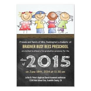 Class of 2015 Little Cartoon Children Preschool Invitation
