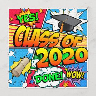 Class of 2020 Comic Book Invitation