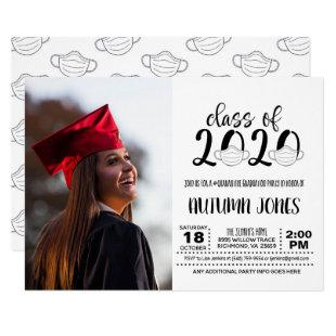 Class of 2020 Facemask with Photo Invitation