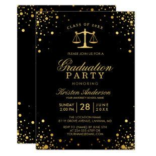 Class of 2020 Law School Graduate Graduation Party Invitation