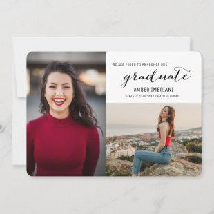 Class of 2020 Two Photo Graduation Announcement