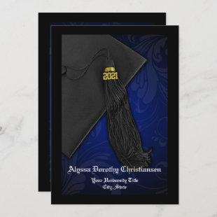 Class of 2021 Blue Tassel Senior Graduation Invitation