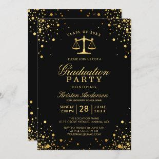 Class of 2021 Law School Graduate Graduation Party Invitation