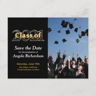Class of 2021 Save the Date Graduation Photo Invitation Postcard