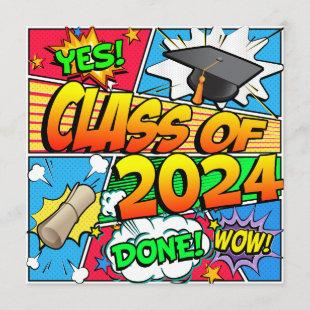 Class of 2024 Comic Book Invitation