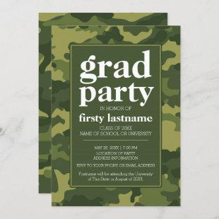 Class of Any Year - Graduation Party green camo