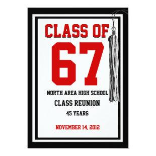 Class Reunion with changable colors Invitation
