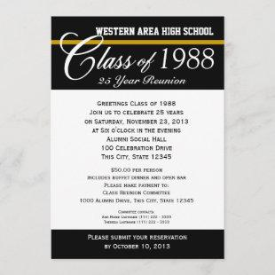 Class Reunion with Color Accent Invitation