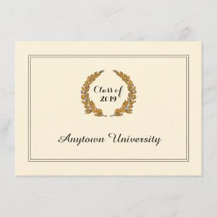 Classic Traditional Style Graduation Announcement