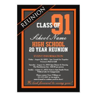 Classy Formal High School Reunion Invitation
